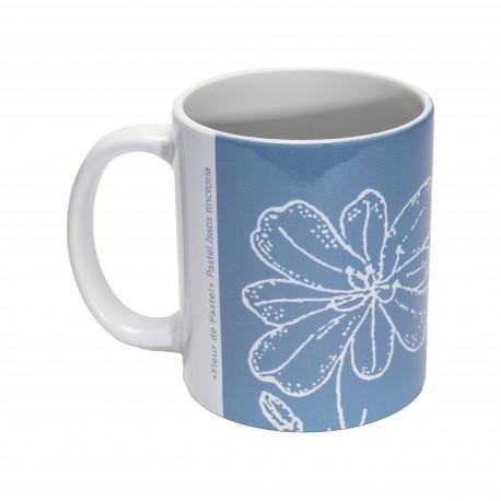 Mug Bleu Par Nature - Motif fleur de pastel