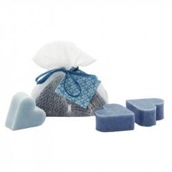 Déclinaison de bleus naturels